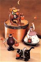 ww6006, ww6007, ww6008, ww6010 black cat, stars, dog, bee, pumpkin, moon, riding, ladybug, costume, jack o' lantern, trick or treat, hat